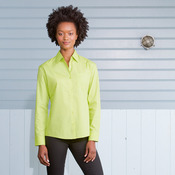 Women's long sleeve Easycare poplin shirt