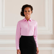 Women's long sleeve 100% cotton poplin shirt