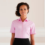 Women's Short Sleeve 100% Cotton Poplin Shirt