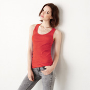 2x1 Rib Racerback Longer Length Tank Top
