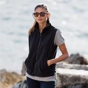 Women's sleeveless micro fleece jacket
