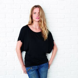 Flowy draped sleeve dolman t-shirt Thumbnail