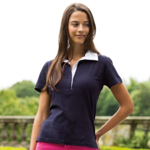 Women's short sleeve 'stretch' rugby shirt Thumbnail