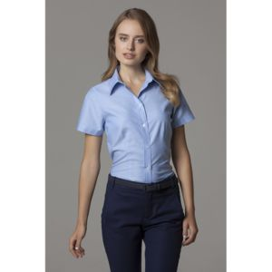 Women's workplace Oxford blouse short-sleeved (tailored fit) Thumbnail