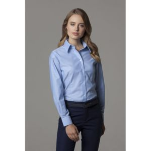 Women's workplace Oxford blouse long-sleeved (tailored fit) Thumbnail