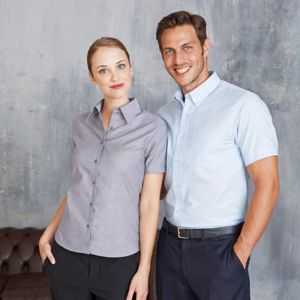 Short-sleeved easycare Oxford shirt Thumbnail