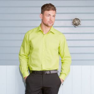 Long sleeve polycotton easycare poplin shirt Thumbnail