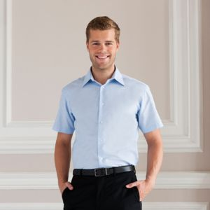 Short sleeved easycare tailored Oxford shirt Thumbnail