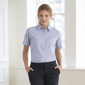 Women's short sleeve classic Oxford shirt Thumbnail