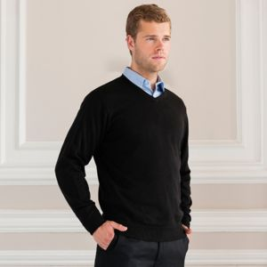 V-neck knitted sweater Thumbnail
